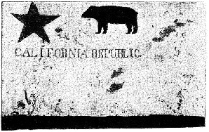 The original California Bear Flag was designed by William Todd in 1848. This photo was taken in 1890.