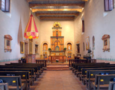 Reconstructed basilica at the San Diego Mission.
