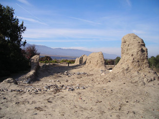 Remains of adobe walls.