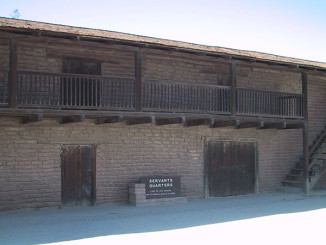 Adobe building, part of Vallejo's Casa Grande, near the mission.