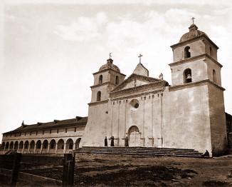 Mission Santa Barbara circa 1876.